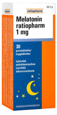 MELATONIN RATIOPHARM 1MG PURUTABL 30 FOL