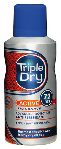 TRIPLE DRY MENS ACTIVE FRAGRANSPRAY 72H 150 ML