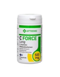 APTEEKKI C FORCE Long 500 mg 90 depottabl