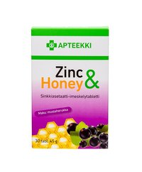 APTEEKKI Zinc & Honey 30 tabl
